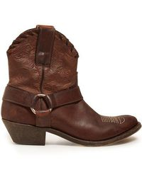 Golden Goose Deluxe Brand - Old Golden Leather Ankle Boots - Lyst
