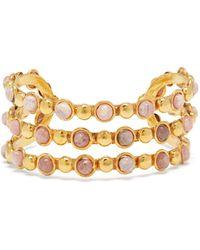 Sylvia Toledano Talitha Rodochrosite Cuff Bracelet - Metallic