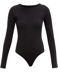 WARDROBE.NYC Release 03 Round-neckline Jersey Bodysuit - Black
