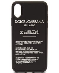 Dolce & Gabbana - Logo And Care Label Iphone® X Case - Lyst