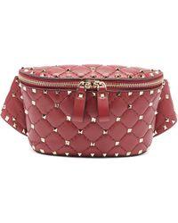 Valentino - Rockstud Spike Quilted-leather Belt Bag - Lyst