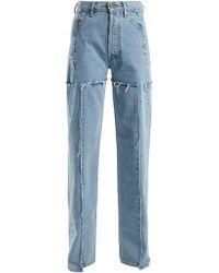 Vetements High Rise Straight Leg Jeans - Blue