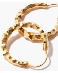 All_blues Snake Large Thin 18kt Gold-vermeil Earrings - Metallic