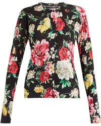 Dolce & Gabbana | Floral-printed Silk Cardigan | Lyst