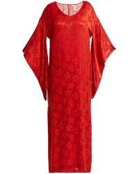 Chufy - Floral Jacquard Kimono Sleeved Dress - Lyst