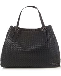 Bottega Veneta - Intrecciato Large Leather Tote - Lyst