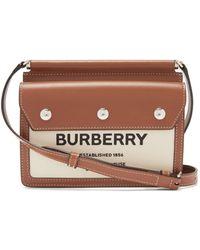Burberry ベイビー ポケット キャンバスクロスボディバッグ - ブラウン