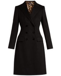 Dolce & Gabbana - Double-breasted Wool And Cashmere-blend Coat - Lyst
