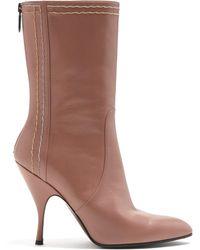 Bottega Veneta - Chain Embellished Leather Boots - Lyst