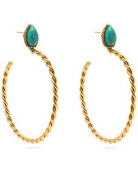Sylvia Toledano - Turquoise Hoop Earrings - Lyst