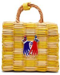Heimat Atlantica Tom Tom Mini Basket Bag - Yellow