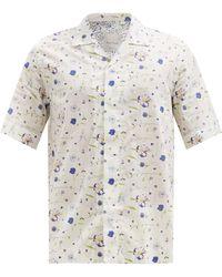 Paul Smith キューバンカラー フローラル コットンシャツ - マルチカラー