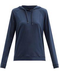 Derek Rose Sweat-shirt à capuche en modal mélangé Basel 1 - Bleu