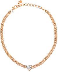 SHAY ハートダイヤモンド 18kローズゴールドチョーカー - マルチカラー
