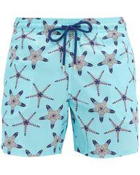 Vilebrequin Mahina Starfish-print Swim Shorts - Blue