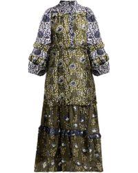 Apiece Apart - Gracia Floral Print Silk Dress - Lyst