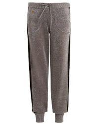 Bella Freud Goldie Libertine Wool-blend Track Pants - Metallic
