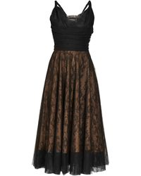 Rochas Robe en tulle et dentelle de Chantilly Pralina - Noir