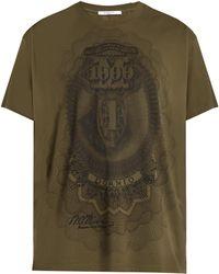 Givenchy Dollar-print Cotton-jersey T-shirt - Green