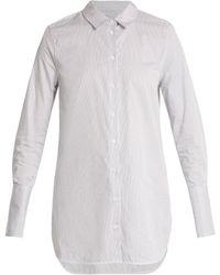 Equipment - Artlette Point-collar Cotton Shirt - Lyst