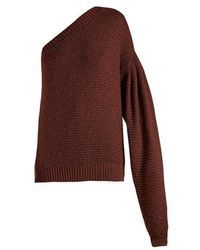 Stella McCartney - One-shoulder Balloon-sleeve Jumper - Lyst