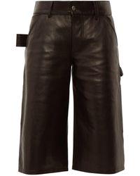Bottega Veneta Leather Utility Shorts - Black
