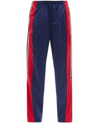 Colville Striped Upcycled-jersey Cropped Track Trousers - Multicolour