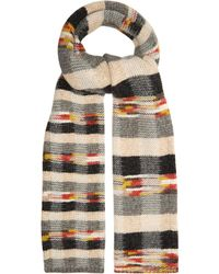 Missoni - Checked Wool-blend Scarf - Lyst