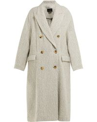 Isabel Marant Habra Alpaca-bend Blanket Coat - White