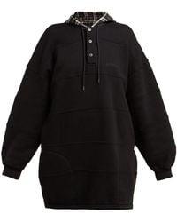 Balenciaga - Panelled Hooded Cotton Sweatshirt - Lyst