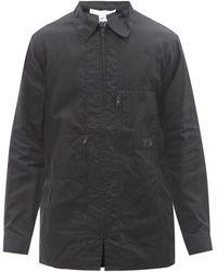 Y-3 ワックスコットンシャツ - ブラック