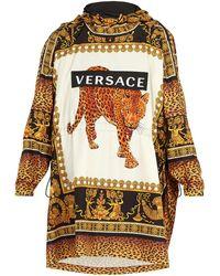 Versace - Leopard-print Hooded Raincoat - Lyst