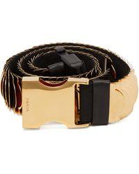 Prada Gold-tone Metal Chain Belt - Black