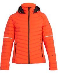 Toni Sailer Ruven Quilted Ski Jacket - Orange