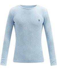 Polo Ralph Lauren コットンブレンド パジャマトップ - ブルー