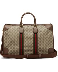 Gucci Ophidia Gg Supreme Weekend Bag - Natural