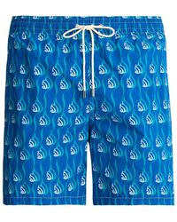 Le Sirenuse - Snail Print Swim Shorts - Lyst