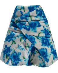 Jil Sander Floral Wrap Scarf - Blue