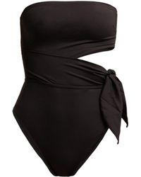 Zimmermann Juniper Scarf Cut Out Swimsuit - Black