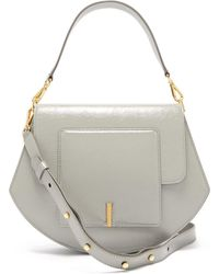 Wandler Al Crinkled Patent Leather Cross Body Bag - Gray