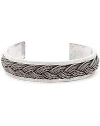 Emanuele Bicocchi - Bracelet en argent sterling tressé - Lyst
