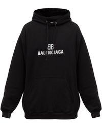 Balenciaga コットンスウェットパーカー - ブラック
