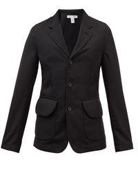 Comme des Garçons Comme Des Garçons Shirt ギャバジン シングルスーツジャケット - ブラック