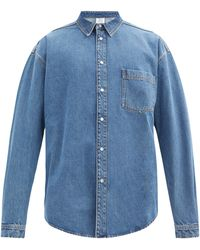 Vetements バックロゴ コットンデニムシャツ - ブルー
