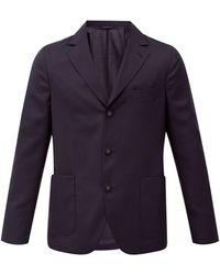 Officine Generale - Officine Générale アーミー ウールフレスコ シングルスーツジャケット - Lyst