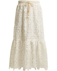 See By Chloé | Drawstring-waist Lace Skirt | Lyst