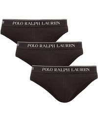 Polo Ralph Lauren Ensemble de trois slips en coton stretch - Noir