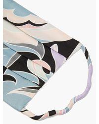 Emilio Pucci Dinamica-print Silk Face Covering - Multicolour