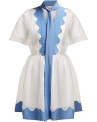 Valentino - Broderie Anglaise Cotton Dress - Lyst