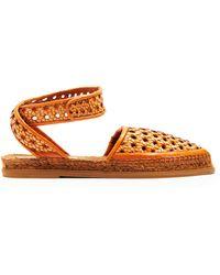 Stella McCartney - Woven Wicker Espadrille Sandals - Lyst